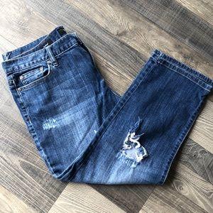 a.n.a Capri boyfriend jeans. 12p
